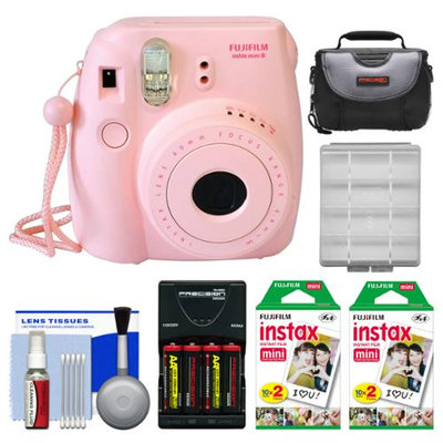 Fujifilm Instax Mini 8 Instant Camera Pink + 40 Film + Case + Batt + Kit