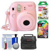 Fujifilm Instax Mini 8 Instant Camera Pink + Film + Rainbow + Case + Kit