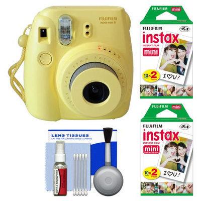 Fujifilm Instax Mini 8 Instant Film Camera (Yellow) + 40 Instant Film + Kit