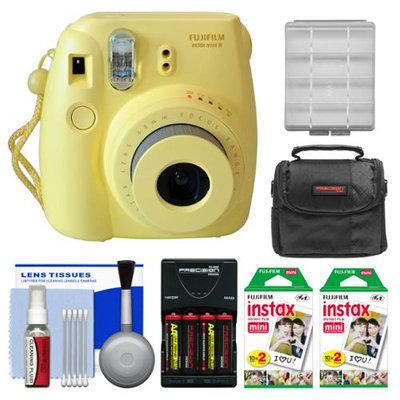 Fujifilm Instax Mini 8 Instant Camera Yellow + 40 Film + Case + Batt + Kit