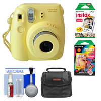 Fujifilm Instax Mini 8 Instant Camera Yellow + Film + Rainbow + Case + Kit