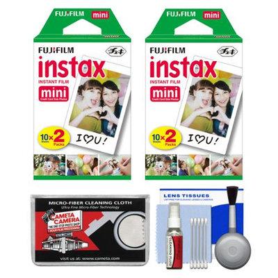 Essentials Bundle for Fujifilm Instax Mini 8 & Mini 90 Instant Film Camera with 40 Twin Color Prints + Accessory Kit