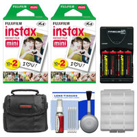 Essentials Bundle for Fujifilm Instax Mini 8 Instant Film Camera with 40 Twin Color Prints + Batteries & Charger + Case + Kit