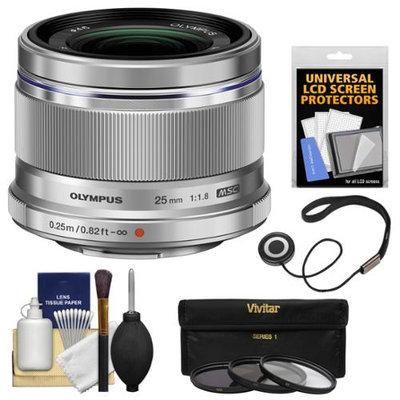 Olympus M.Zuiko 25mm f/1.8 Digital Lens + 3 UV/ND8/PL Filters + Accessory Kit