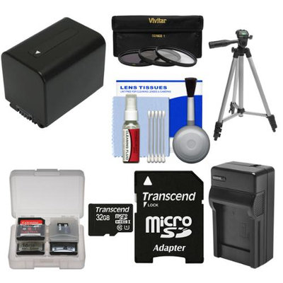 Transcend Essentials Bundle for Sony Handycam HDR-PJ540 & HDR-PJ810 Camcorder with 32GB Card + NP-FV70 Battery & Charger + Tripod + 3 UV/CPL/ND8 Filter Kit
