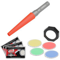 LED Lenser Flashlight Accesory Kit for 37mm Flashlights with Signal Cone + Filter Set (Red, Green, Yellow, Blue) + 3 Cleaning Cloths