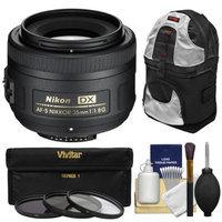 Nikon 35mm f/1.8 G DX AF-S Nikkor Lens with 3 UV/CPL/ND8 Filters + Sling Backpack + Kit