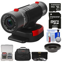Replay XD 1080 Mini Digital HD Video Camera Camcorder with 64GB Card + Lens Adapter + 3 UV/CPL/ND8 Filters + Case + Kit