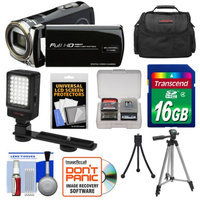Bell & Howell DV12HDZ 1080p HD Video Camera Camcorder (Black) with 16GB Card + Case + Tripod + LED Video Light + Kit