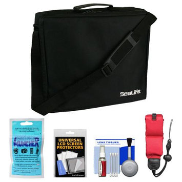 Sea Life Essentials Bundle for SeaLife DC1400, Micro HD 16GB & HD+ 32GB Underwater Digital Camera with Travel Case + Silica Gel + Floating Strap + Accessory Kit