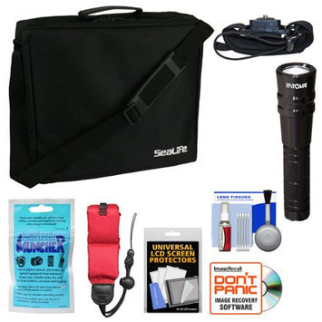 Sea Life Essentials Bundle for SeaLife DC1400, Micro HD 16GB & HD+ 32GB Underwater Digital Camera with Case + Silica Gel + LED Torch + Hand Strap Mount + Floating Strap
