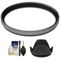 Tiffen 52mm Digital HT Ultra Clear Titanium Multi-Coated Filter with Lens Hood + Cleaning Kit