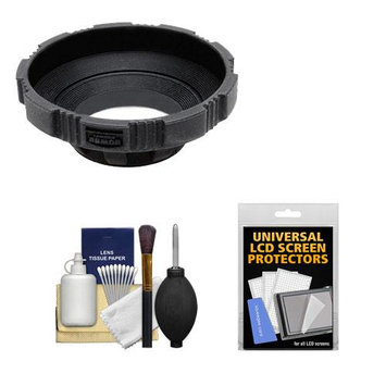 Made Product MADE Rubberized Camera Armor Lens Hood + Cap Leash (Black) fits 52mm, 55mm, 58mm 62mm, 67mm Lenses + Cleaning Kit