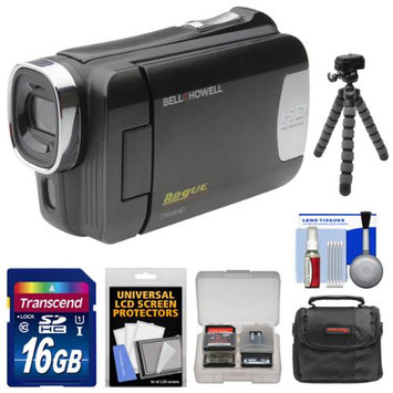 Bell & Howell DNV6HD Rogue Infrared Night Vision 1080p HD Video Camera Camcorder (Black) with 16GB Card + Case + Flex Tripod + Kit