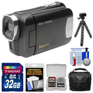 Bell & Howell DNV6HD Rogue Infrared Night Vision 1080p HD Video Camera Camcorder (Black) with 32GB Card + Case + Flex Tripod + Kit