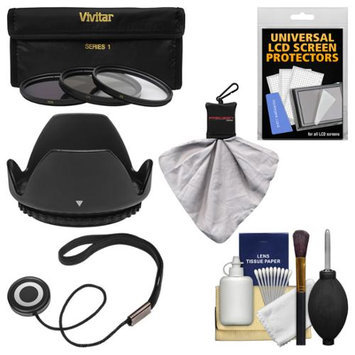 Vivitar Essentials Bundle for Sony Alpha E-Mount E 30mm f/3.5 Macro Lens with 3 (UV/CPL/ND8) Filters + Hood + Accessory Kit