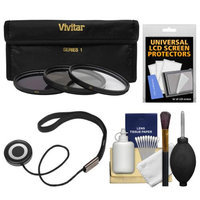 Vivitar 3-Piece Multi-Coated HD Filter Set (40.5 UV/CPL/ND8) + CapKeeper + Kit