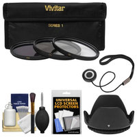 Vivitar 3-Piece Multi-Coated HD Filter Set (62mm UV/CPL/ND8) with Hood + Accessory Kit