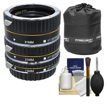 Xit Group Xit Pro Series AF Macro Extension Tube Set (for Canon EOS Cameras) with Lens Pouch + Accessory Kit