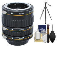 Xit Group Xit Pro Series AF Macro Extension Tube Set (for Nikon Cameras) with Tripod + Accessory Kit
