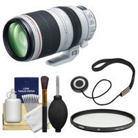 Canon EF 100-400mm f/4.5-5.6 L IS II USM Telephoto Zoom Lens with Multi-Coated UV Filter + Accessory Kit