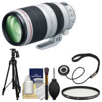 Canon EF 100-400mm f/4.5-5.6 L IS II USM Telephoto Zoom Lens with Hoya Multi-Coated UV Filter + Pistol Grip Tripod + Kit