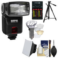 Sunpak DigiFlash 3000 Electronic Flash Unit (for Nikon iTTL) with Batteries & Charger + Tripod + Soft Box + Diffuser Bouncer + Kit