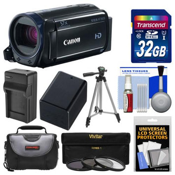 Canon Vixia HF R600 1080p HD Video Camcorder (Black) with 32GB Card + Case + Battery & Charger + Tripod + 3 Filters + Kit