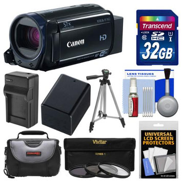 Canon Vixia HF R62 32GB Wi-Fi 1080p HD Video Camcorder with 32GB Card + Case + Battery & Charger + Tripod + 3 Filters + Kit