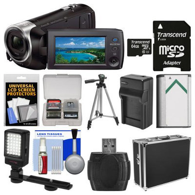 Sony Handycam HDR-PJ440 8GB Wi-Fi 1080p HD Video Camera Camcorder with Projector + 64GB Card + Hard Case + LED Light + Battery & Charger + Tripod + Kit