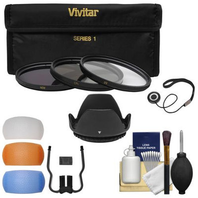 Vivitar Essentials Bundle for Canon Rebel SL1, T3, T3i, T4i, T5, T5i DSLR Camera & 18-55mm Lens with 3 UV/CPL/ND8 Filters + Lens Hood + 4 Pop-Up Flash Diffusers + Cleaning Kit