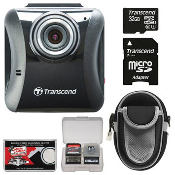 Transcend DrivePro 100 1080p Full HD Car Dashboard Video Recorder with 32GB Card + Case + Accessory Kit