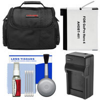 Precision Design Essentials Bundle for GoPro HD HERO 4 Action Camcorder with Case + AHDBT-401 Battery + Charger + Cleaning Kit