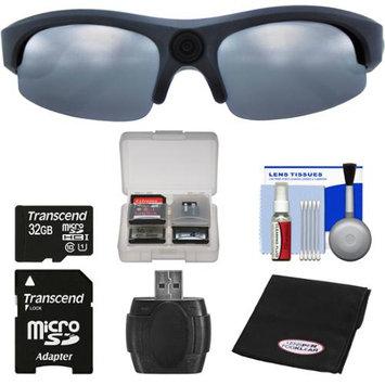 Coleman VisionHD G3HD-SUN 1080p HD Weatherproof Action Polarized Sunglasses with 32GB Card + Reader + Anti-Fog Cloth + Kit