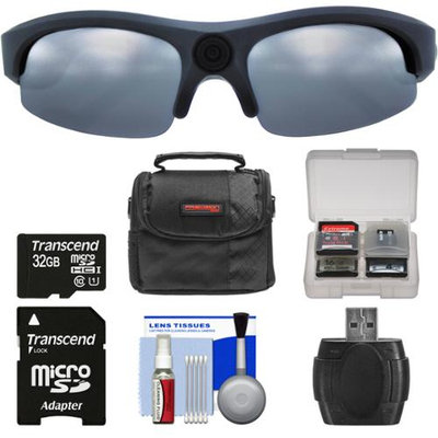 Coleman VisionHD G3HD-SUN 1080p HD Weatherproof Action Polarized Sunglasses with 32GB Card + Case + Reader + Kit
