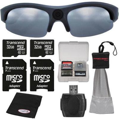 Coleman VisionHD G3HD-SUN 1080p HD Weatherproof Action Polarized Sunglasses with (2) 32GB Cards + Anti-Fog Cloth + Spudz + Kit