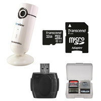 Bell & Howell C-IP111 Wi-Fi HD IP Video Security Camera with 32GB Card + Accessory Kit