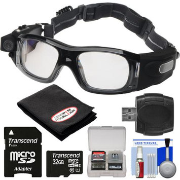 Coleman VisionHD G5HD-SPORT 1080p HD Waterproof POV Sports Safety Goggles with 32GB Card + Reader + Anti-Fog Cloth + Kit