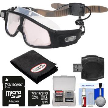 Coleman VisionHD G7HD-SWIM 1080p HD Waterproof POV Swimming Goggles with 32GB Card + Reader + Anti-Fog Cloth + Kit
