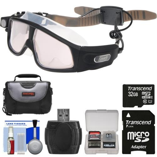 Coleman VisionHD G7HD-SWIM 1080p HD Waterproof POV Swimming Goggles with 32GB Card + Case + Reader + Kit