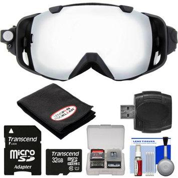 Coleman VisionHD G9HD-SKI 1080p HD Waterproof POV Snow and Ski Goggles with 32GB Card + Reader + Anti-Fog Cloth + Kit
