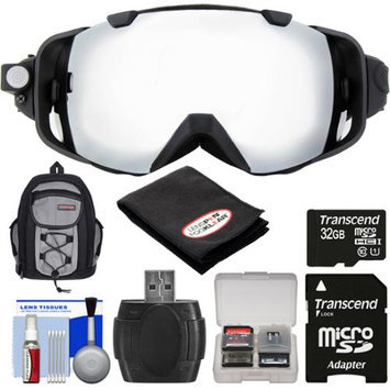 Coleman VisionHD G9HD-SKI 1080p HD Waterproof POV Snow and Ski Goggles with 32GB Card + Backpack + Anti-Fog Cloth + Reader + Kit