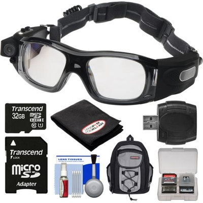 Coleman VisionHD G5HD-SPORT 1080p HD Waterproof POV Sports Safety Goggles with 32GB Card + Backpack + Anti-Fog Cloth + Reader + Kit