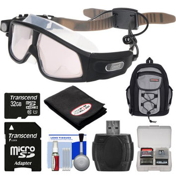Coleman VisionHD G7HD-SWIM 1080p HD Waterproof POV Swimming Goggles with 32GB Card + Backpack + Anti-Fog Cloth + Reader + Kit