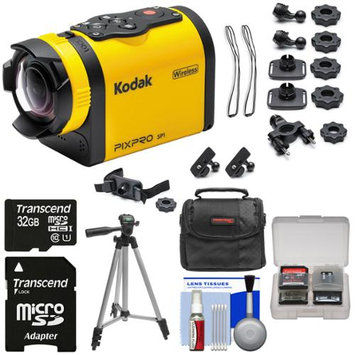 Kodak PixPro SP1 Video Action Camera Camcorder - Explorer Pack with 32GB Card + Case + Tripod + Kit