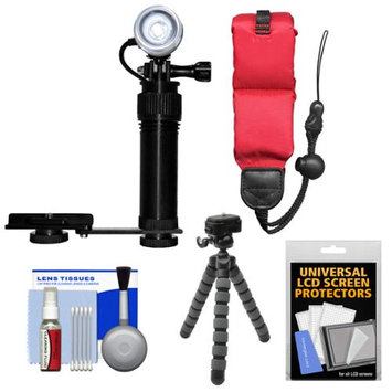 Intova Underwater Action Video Light with Camera Bracket Mount with Floating Strap + Flex Tripod + Kit