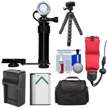 Intova Underwater Action Video Light with Camera Bracket Mount + NP-BX1 Battery + Case + Tripod Kit for Sony Action Cam AS30V AS100V AS200V X1000V