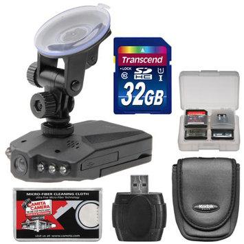 Zuma Photo Video Zuma HD DVR Car Dashboard Video Recorder Camera with 2.5 inch LCD Screen with 32GB Card + Case + Accessory Kit