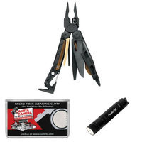 Leatherman Tool Group Inc Leatherman MUT 850122 Tactical Multi-Tool with Sheath (Black) with Flashlight + Cleaning Cloth