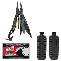 Leatherman Tool Group Inc Leatherman MUT 850122 Tactical Multi-Tool with Sheath (Black) with 42 Bit Kit + Cleaning Cloth